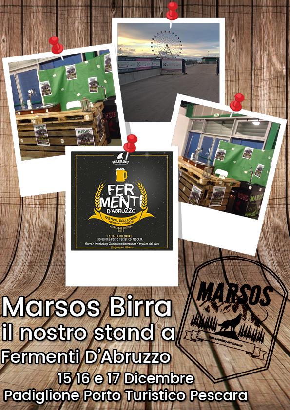 Lo stand di Marsos Birra a fermenti d'Abruzzo