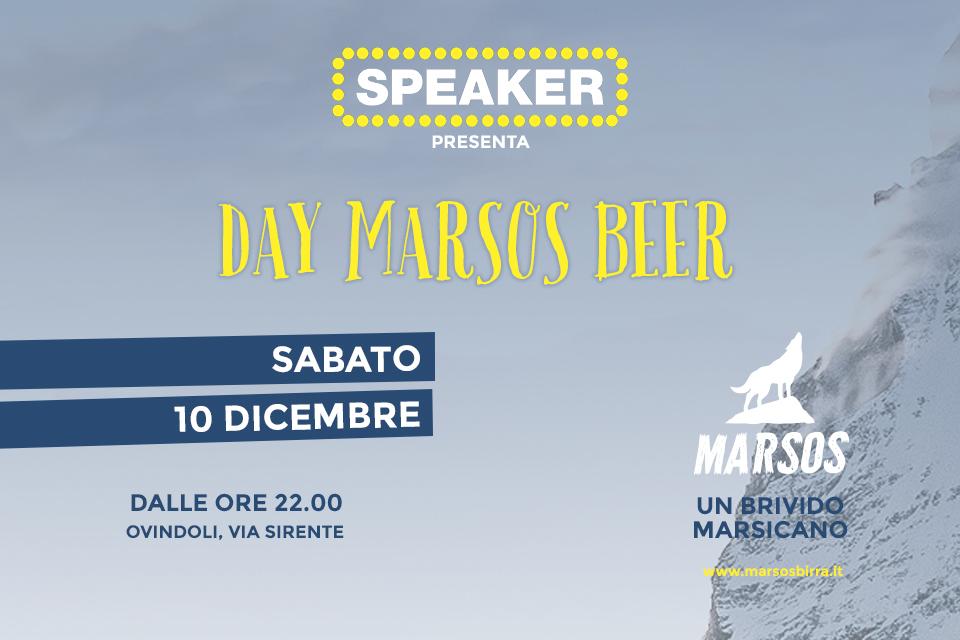 SPEAKER: Day Marsos Beer