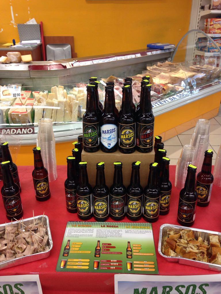 Marsos Birra nei supermercati Decò
