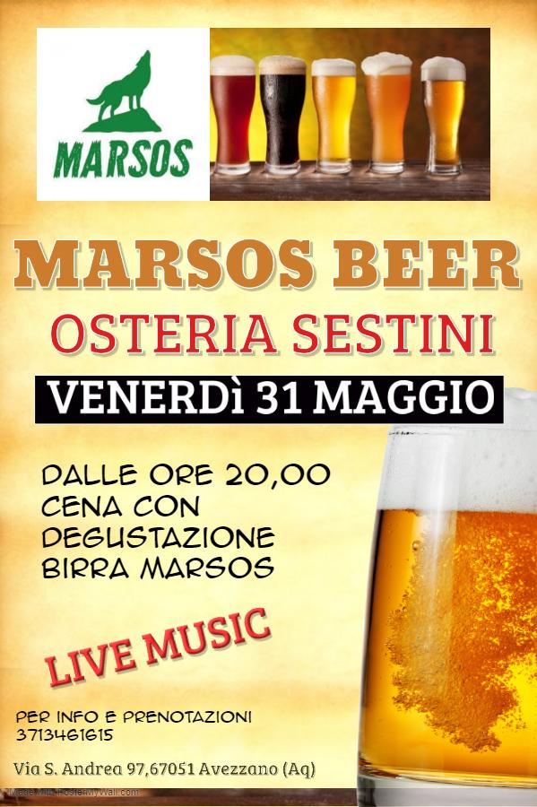 Marsos Birra a Osteria Sestini